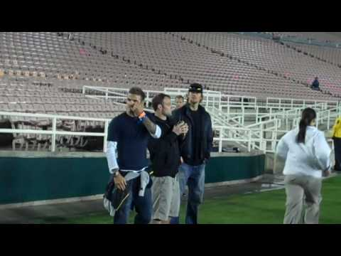 ESPNLA.com: David Beckham, Wes Welker and Tom Brady on the sideline at UCLA football game