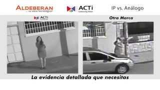 Cámara ACTI IP vs. cámara análoga