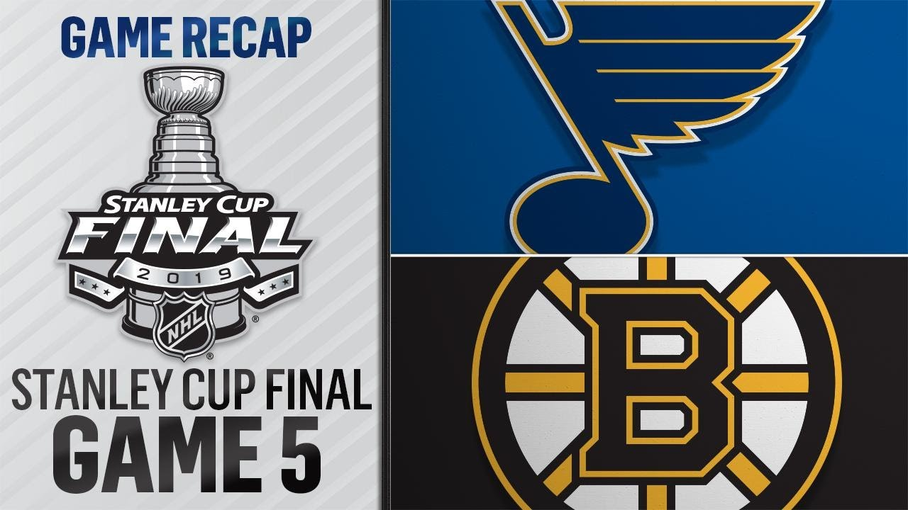 The Bruins And Blues Have Just One Game To Decide Who Lifts Lord Stanley's Cup