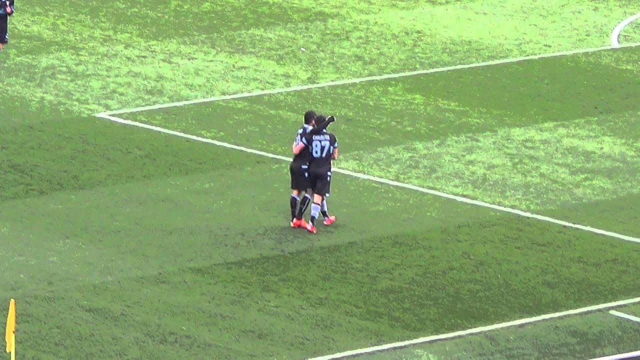 Lazio vs Chievo 4-1 terzo gol Candreva dagli spalti