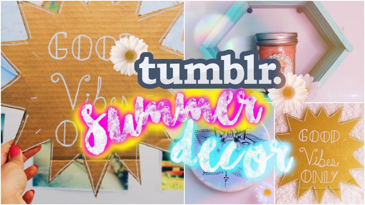 Diy Wall Decor Tumblr diy summer wall decor | tumblr & pinterest inspired! - youtube