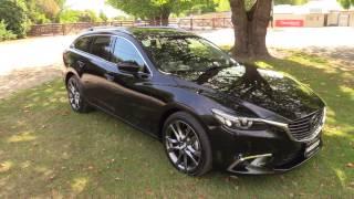New 2017 Mazda 6 Limited Diesel Wagon Presentation - Jet Black