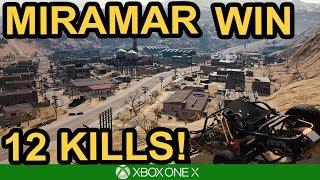 12 KILL CLUTCH WIN ON MIRAMAR! / PUBG Xbox Test Server