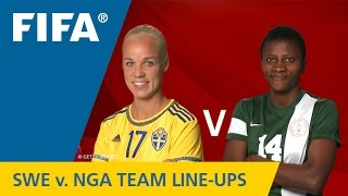 Sweden v. Nigeria - Team Lineups EXCLUSIVE