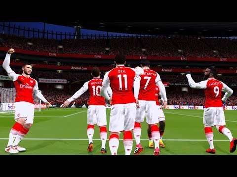Arsenal vs cska moscow | europa league 5/4/2018 gameplay