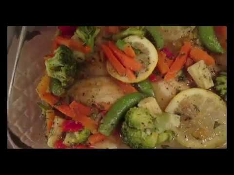 Baked Tilapia And Vegetables