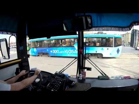 """Кемерово. Автобус 169, направление - """"дер.Тебеньки"""". Bus Route 169, Destination - """"Tebenki Village"""""""