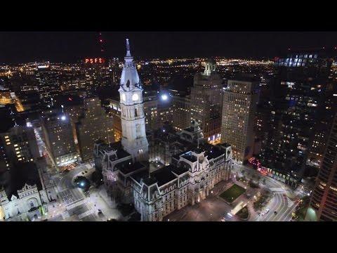 EPIC Drone Night Flight over Philadelphia - DJI Phantom 3 Professional