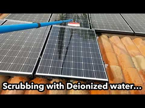 Cleaning Solar Panels With Pure Water (HD 2017)