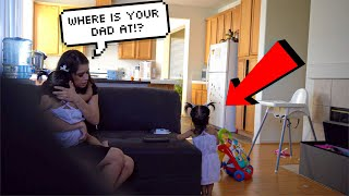 LEAVING BABY KAMILA HOME ALONE PRANK ON GIRLFRIEND!!