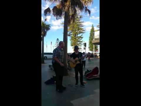 Knocking on heavens door with the amazing guitarist Ziggy McNeill at Manly Beach Sydney Australia!:)