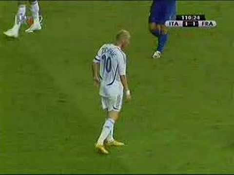 14 years ago today Zidane was sent off for headbutting Marco Materazzi in the 2006 World Cup final.