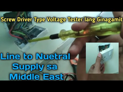 Paano mag tap/trace ng Electric power supply sa abroad?? 220 line, nuetral, ground TUTORIAL