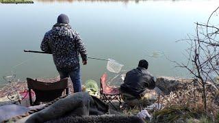 Отличная рыбалка в апреле на резинку