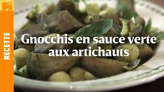 Gnocchis en sauce verte