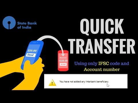 Transfer money from online sbi Instantly QUICK TRANSFER option