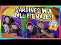 SARDINES IN A BALL PIT MAZE! | HIDE AND SEEK | We Are The Davises