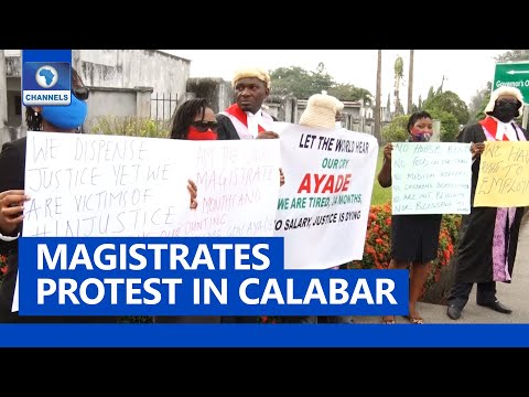 Magistrates In Calabar Protest Over Nonpayment Of Salaries For 24 Months