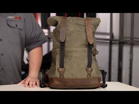 Burly Waxed Canvas Back Pack Review at RevZilla.com