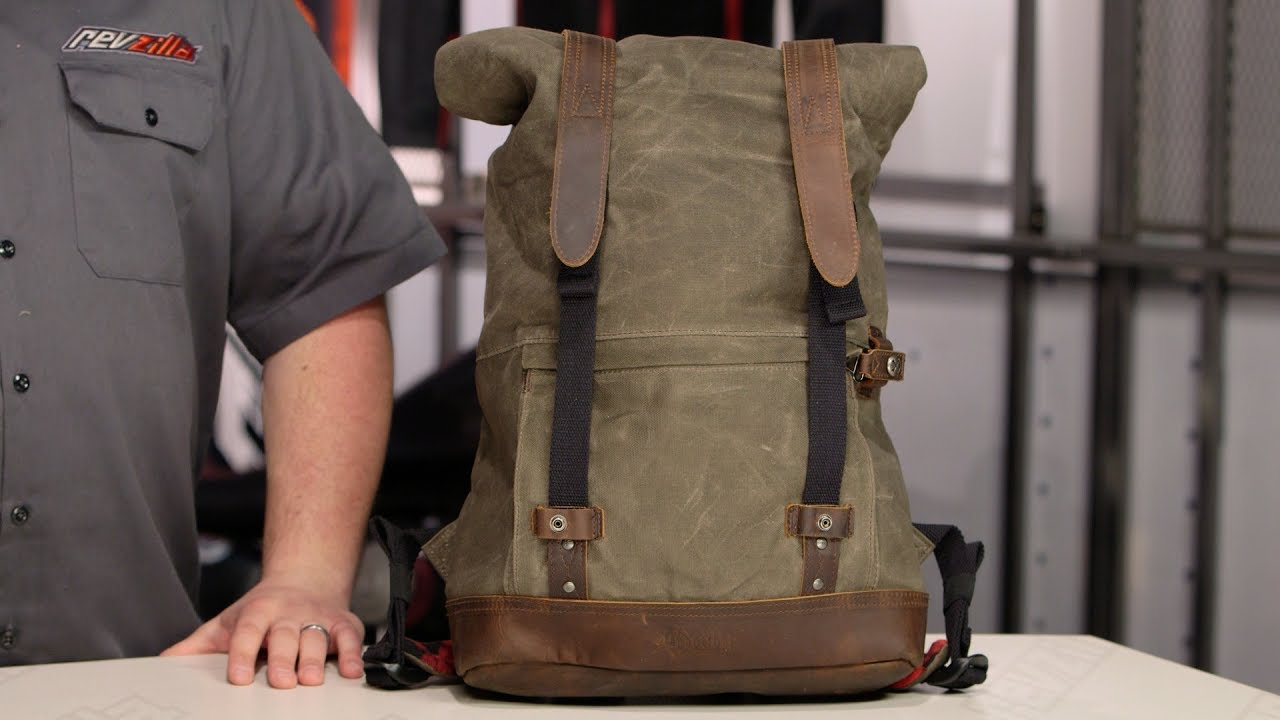 8a85aac8beb3 Burly Waxed Canvas Back Pack Review at RevZilla.com - YouTube