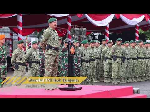 Kunjungan Kerja Panglima TNI Ke Divisi Infanteri 1 Kostrad