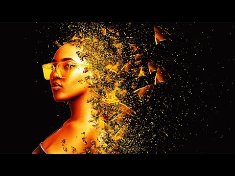 Golden Particle Dispersion Photoshop Effect Tutorial Easy Tips thumbnail