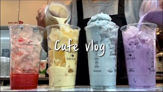(Eng)🌈Colorful drinks🌈 / cafe vlog
