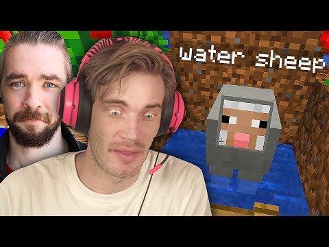 We found a Water Sheep in Minecraft! Minecraft w/ Jack - Part 2