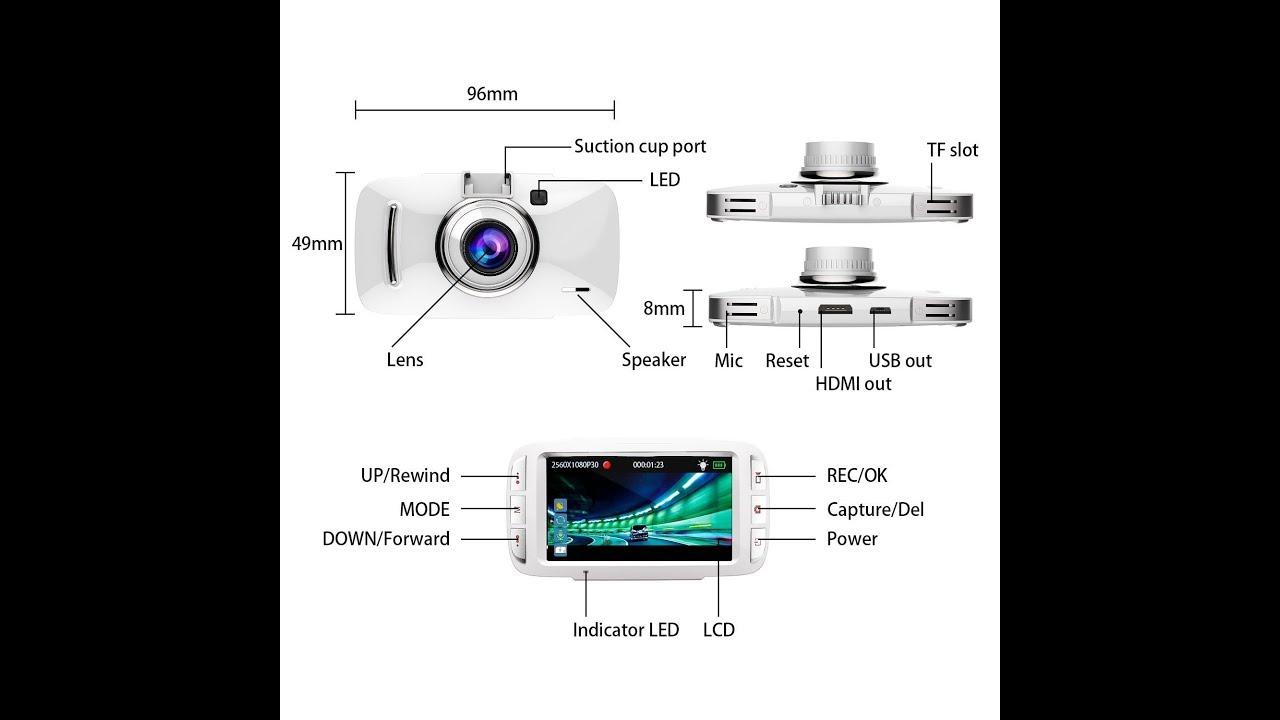 dashcam test buiejdog 1296p with gps 170 degree wide. Black Bedroom Furniture Sets. Home Design Ideas