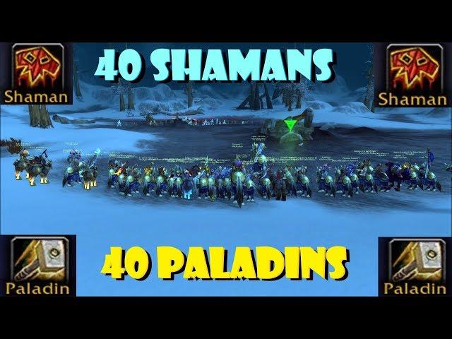 40 Paladins VS 40 Shamans [2019]