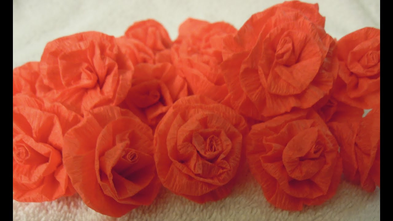 How To Make Easy Paper Streamer Roses Tutorial Youtube