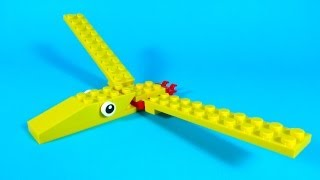 How To Make Lego JURASSIC PTERANODON - 10664 LEGO® Bricks and More Creative Tower Tutorial