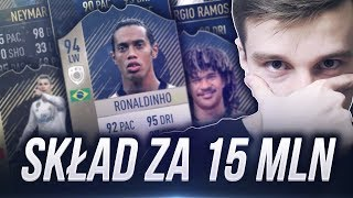 NOWY SKŁAD ZA 15 MILIONÓW Z RONALDINHO PRIME! FIFA 18 ULTIMATE TEAM!