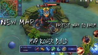 |Mobile Legends| New Map Fastest farming technique, farm like a legend |Roger True Beast Best Build|