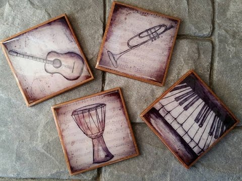 How To Make GORGEOUS Coasters from your Photos and Artwork.