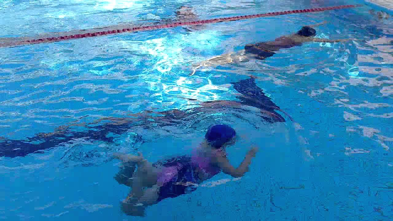 Learning how to swim frog style - YouTube