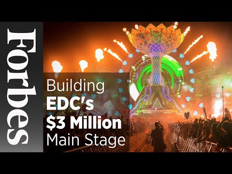 Behind The Construction of EDC's $3 Million Main Stage | Forbes