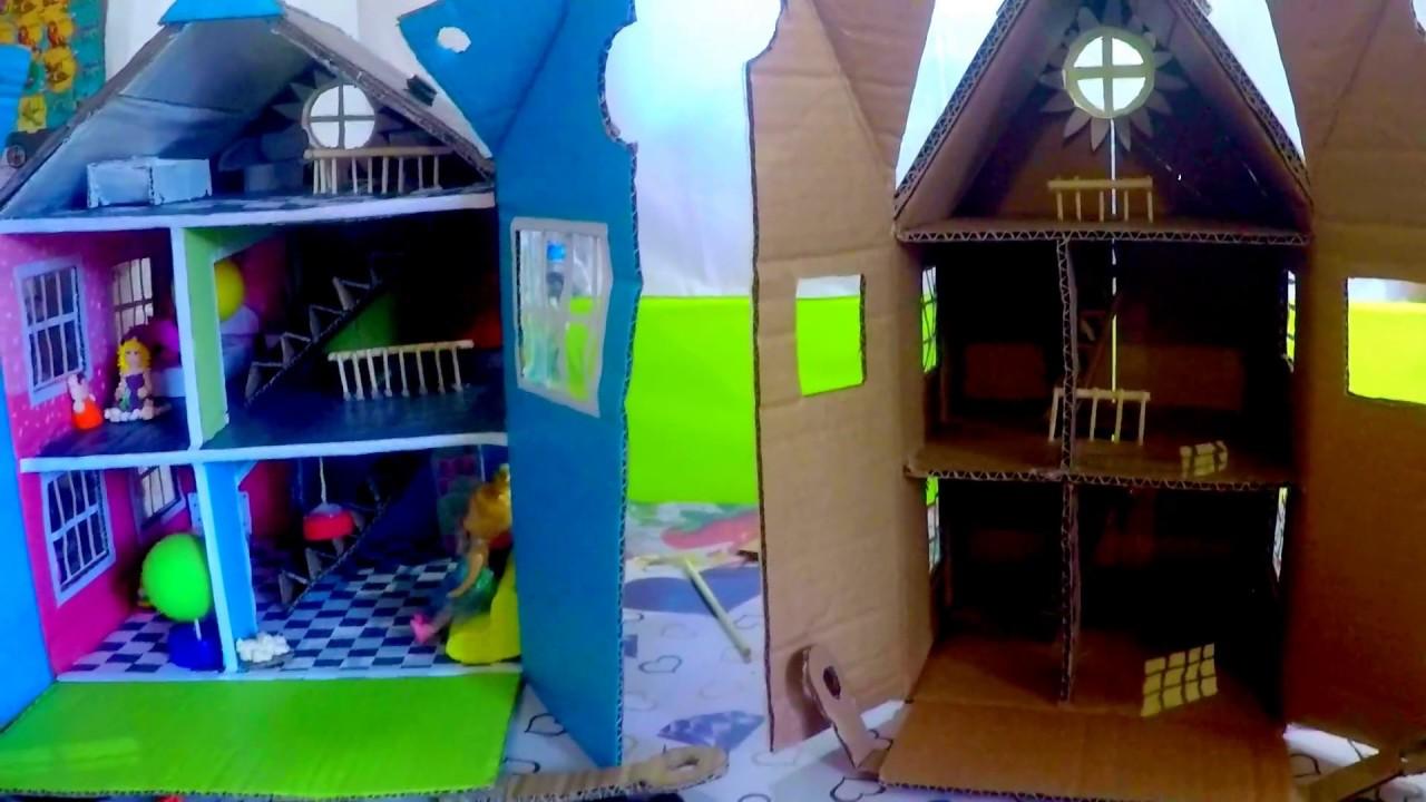 Как сделать кукольный домик и мебель своими руками из коробки фото 293