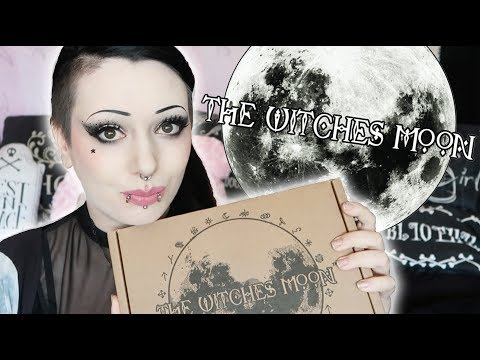 The Witches Moon Unboxing #11 - Witchy Subscription Box! | Toxic Tears