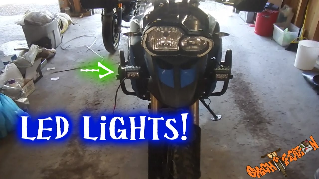 medium resolution of installing led auxilliary lights 2013 bmw f800gs