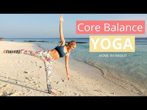 Core Balance Yoga Workout POSES FOR POSTURE | Rebecca Louise