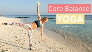 Core Balance Yoga Workout - POSES FOR POSTURE | Rebecca Louise