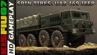 "Spin Tires (May 13 Demo) - PC Gameplay ""UAZ 469 JEEP"" ""Havok Physics Engine (HD)"