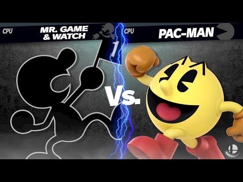 LV 9 CPU Mr. Game & Watch VS Pac-Man - Super Smash Bros. Ultimate
