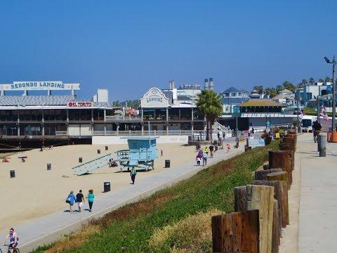 Redondo Beach, CA - Boardwalk, Veterans Memorial Park & Pier