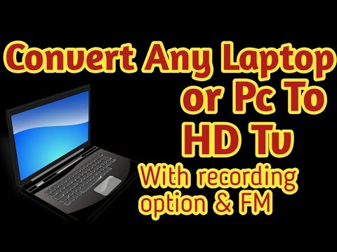 Convert Your Laptop or PC in HD Tv | With Recording Option & FM