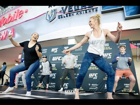 UFC 219: Holly Holm Works Out, Dances With Fans - MMA Fighting