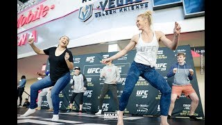 Video UFC 219: Holly Holm Works Out, Dances With Fans - MMA Fighting download MP3, 3GP, MP4, WEBM, AVI, FLV November 2018