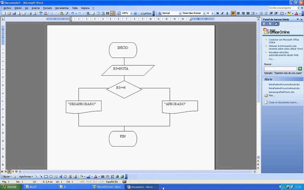 Funcin si en ms excel 2003 y diagrama de flujo en ms word 2003 funcin si en ms excel 2003 y diagrama de flujo en ms word 2003 ccuart Images