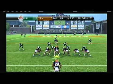 NCAA Football 2010 Illinois Dynasty Mode Michigan State vs Illinois Episode 4